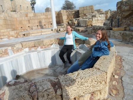 Der slappes af i et gammelt romersk bad
